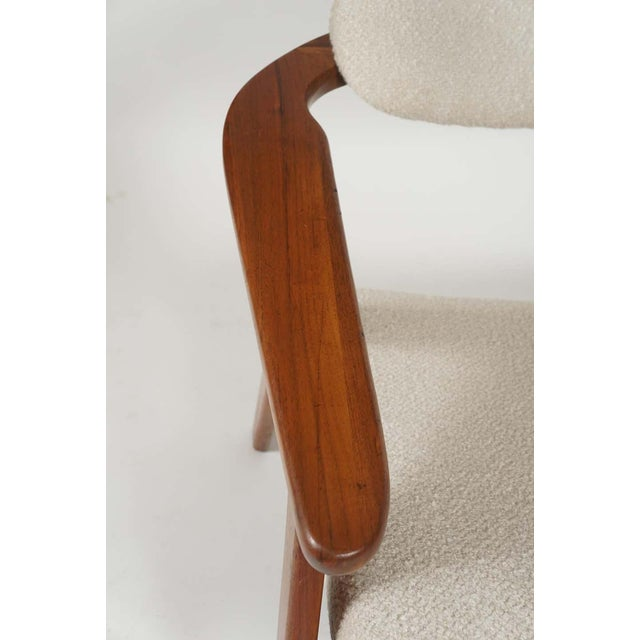 Wood Adrian Pearsall Lounge Captain's Chair for Craft Associates Model 916-CC in Walnut For Sale - Image 7 of 10