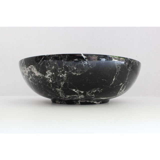 Black Solid Marble Bowl - Image 2 of 5