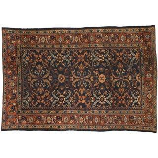 1910s Antique Persian Mahal Mina Khani Pattern Rug- 8′7″ × 12′8″ For Sale