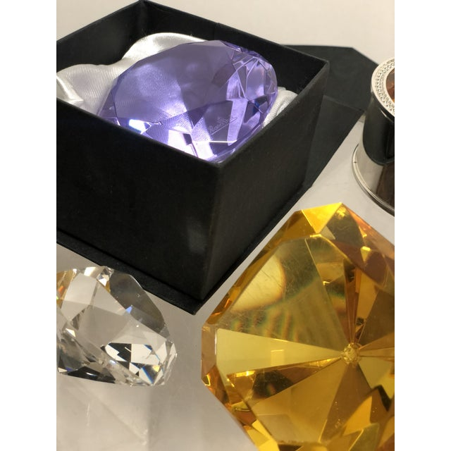 Rosenthal Collection of Crystal Gemstone Paperweights & Boxes - Set of 6 For Sale - Image 4 of 9