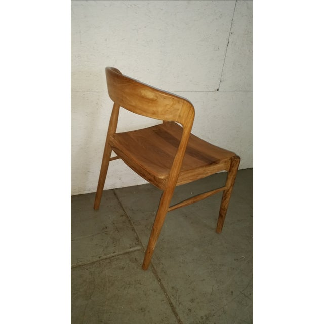 Theodore Mid-Century Modern Teak Side Chair - Image 4 of 4