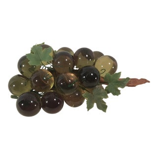 Green Mid-Century Lucite Grape Bunch For Sale
