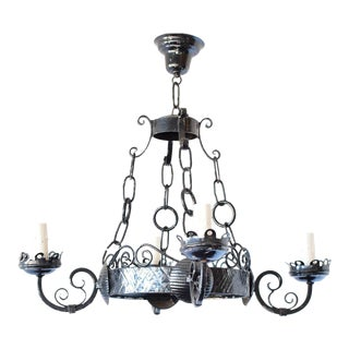 Iron Ring Chandelier For Sale