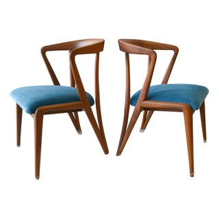 Vintage Bertha Schaefer/Gio Ponti Chairs - A Pair For Sale