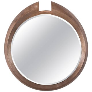 Large Modern Round Arpels Wall Mirror For Sale