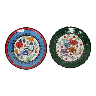 Kütahya Wall Plates - Set of 2 For Sale
