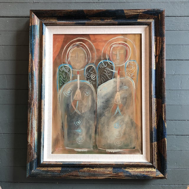 """Contemporary Folk Artist Rose Walton """"Angels of Light"""" Painting For Sale In Philadelphia - Image 6 of 6"""
