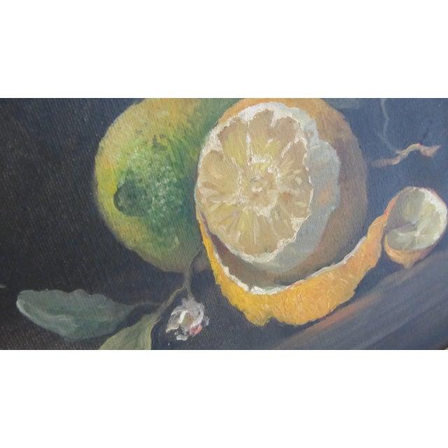 Lemon Still Life Original Oil by Hansen - Image 6 of 10