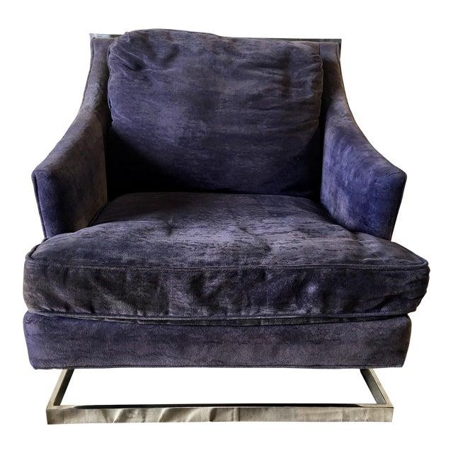 1970s Vintage Bernhardt Flair Chrome Frame Club Chair For Sale