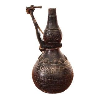 19th Century African Wooden Gunpowder Flask For Sale