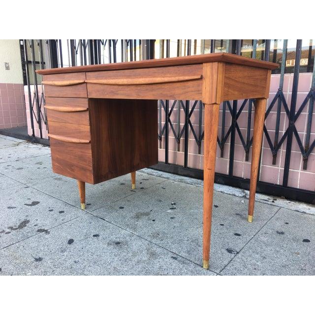 Vintage Mid-Century Wood Desk - Image 5 of 9