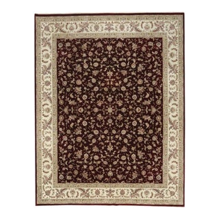Vintage Chinese Persian Tabriz Traditional Style Rug - 12'00 X 15'04 For Sale