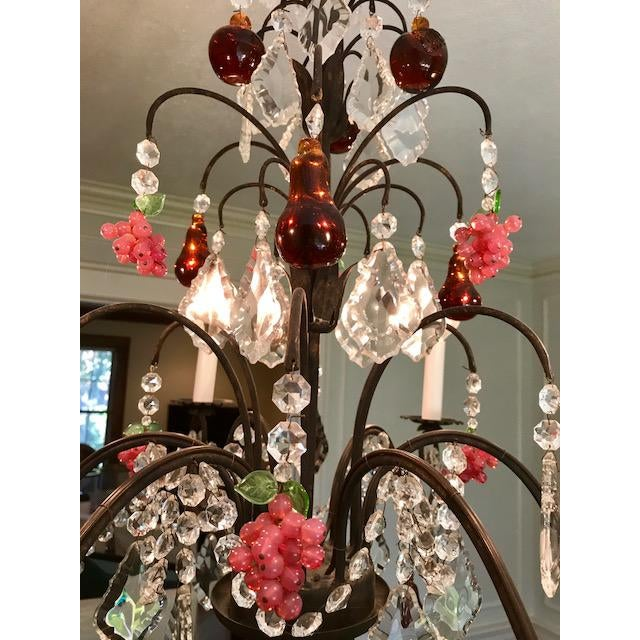 Dark Bronze Crystal Chandelier - Image 4 of 11