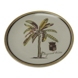 Decorative Ceramic Plate by Raymond Waites For Sale