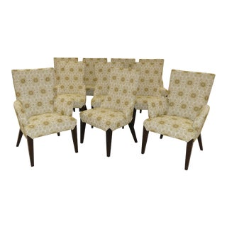 Larry Laslo Directional Dining Chairs- Set of 10 For Sale