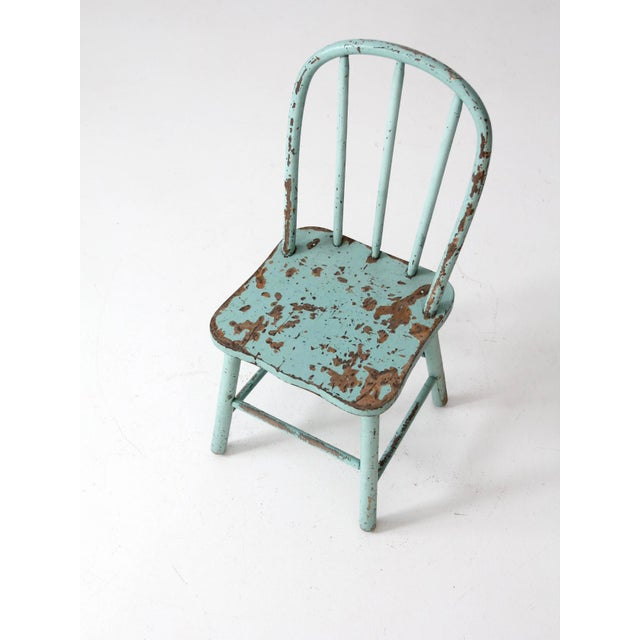 Vintage Children's Spindle Back Chair For Sale - Image 4 of 8
