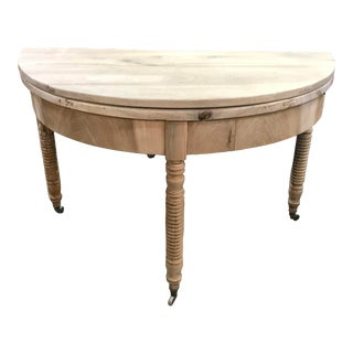 French Console Demi Lune Round Table For Sale