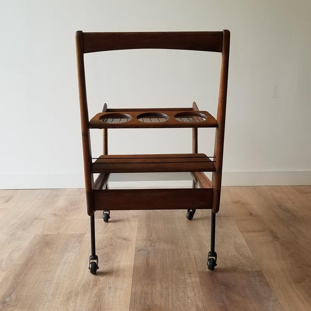 Mid-Century Modern Mid 20th Century Italian Mid-Century Modern Bar Cart For Sale - Image 3 of 13