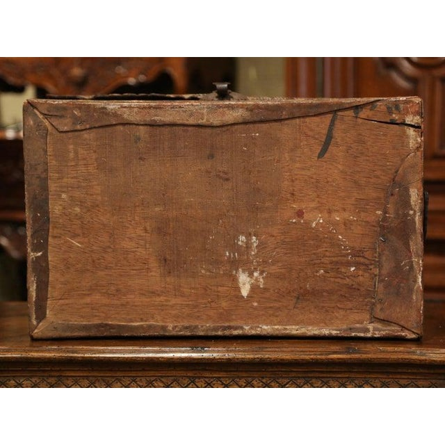 18th Century German Gothic Painted Decorative Bombe Box Wedding Trunk For Sale - Image 4 of 13