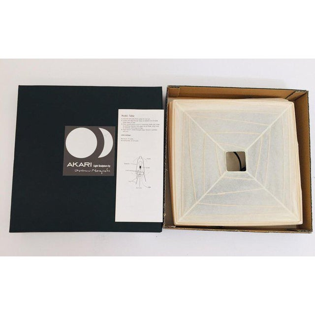 Isamu Noguchi Sculptural Table Lamp by Isamu Noguchi Akari Series 3 X For Sale - Image 4 of 13