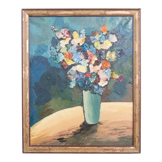 1960s Floral Still Life by Zerva Duffer For Sale