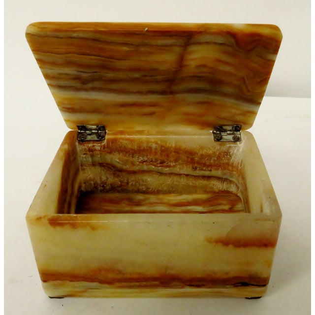 Vintage Carved Onyx Box For Sale In Los Angeles - Image 6 of 10