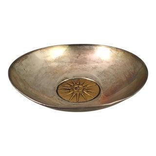Vintage Mid Century Sterling Silver Greek Bowl For Sale
