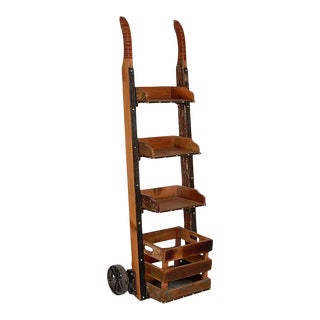 Rustic Noreis Ladder Shelf 3 Tier Bookshelf For Sale