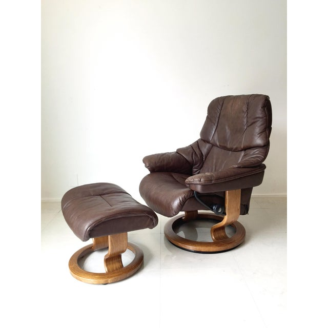 Vintage Ekornes Stressless Lounge Chair For Sale - Image 4 of 6