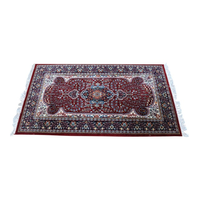 Hand Knotted Kerman Rug - 3′ × 5′11″ For Sale
