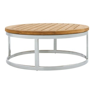 "Summit Furniture Picket 39"" Round Coffee Table-ss Base For Sale"