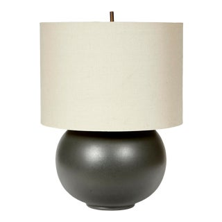 Vintage Charcoal Barrel Table Lamp For Sale
