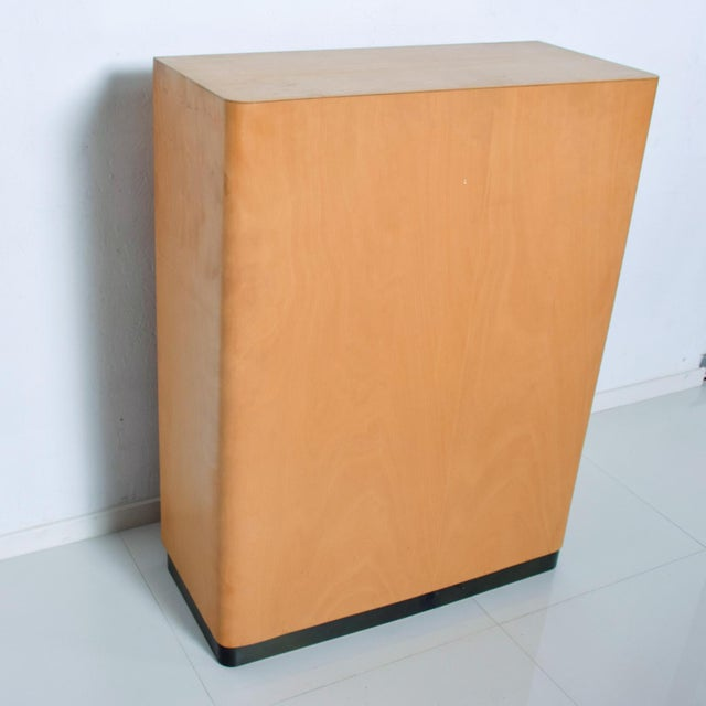 Bauhaus Filing Cabinet Locking Tambour Door by Adolf Maier Germany For Sale - Image 10 of 11