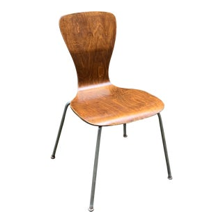 1950s Mid-Century Modern Tapio Wirkkala for Asko Finland Bent and Laminate Side Chair For Sale