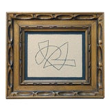 """Image of Original Abstract """"Flight II"""" Painting in Vintage Gold Frame For Sale"""