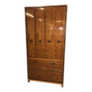 1960's Vintage Hickory Banded Mid Century Modern Dresser For Sale