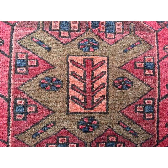"Vintage Persian Zanjan Area Rug - 3'4""x4'6"" - Image 4 of 8"