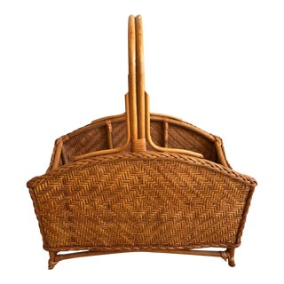 Vintage Woven Floor Basket