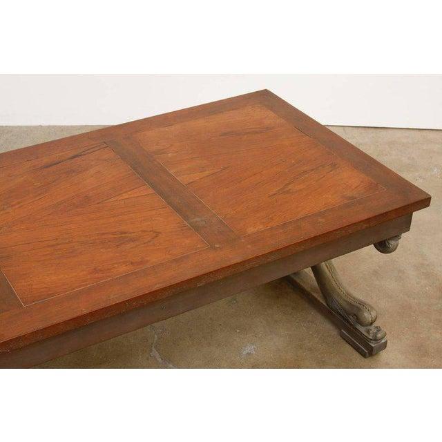t.h. Robsjohn-Gibbings Neoclassical Cocktail Table for Baker For Sale - Image 9 of 13