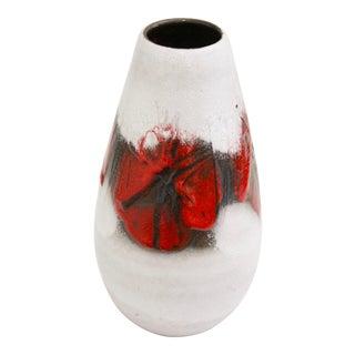 Mid-Century Modern Lava Glaze Pottery Vase (Germany) For Sale