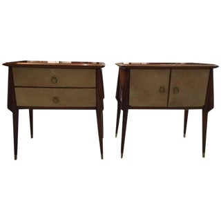 Italian Mid-Century Nightstands - a Pair For Sale