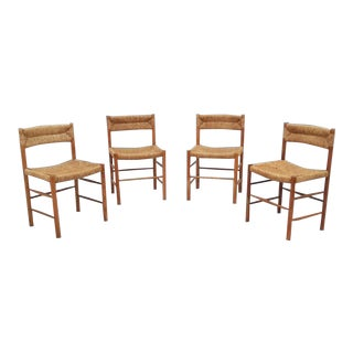 "Charlotte Perriand ""Dordogne""Oak Dining Chairs - Set of 4 For Sale"