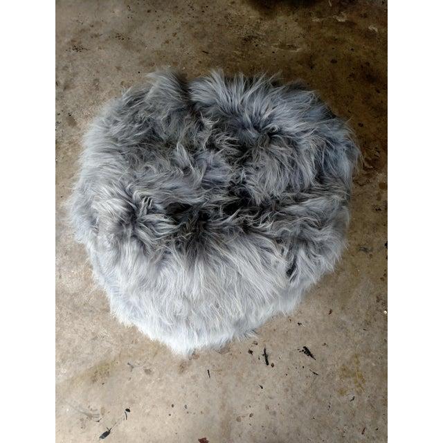Moon Grey Sheepskin Bean Bag - Image 3 of 3