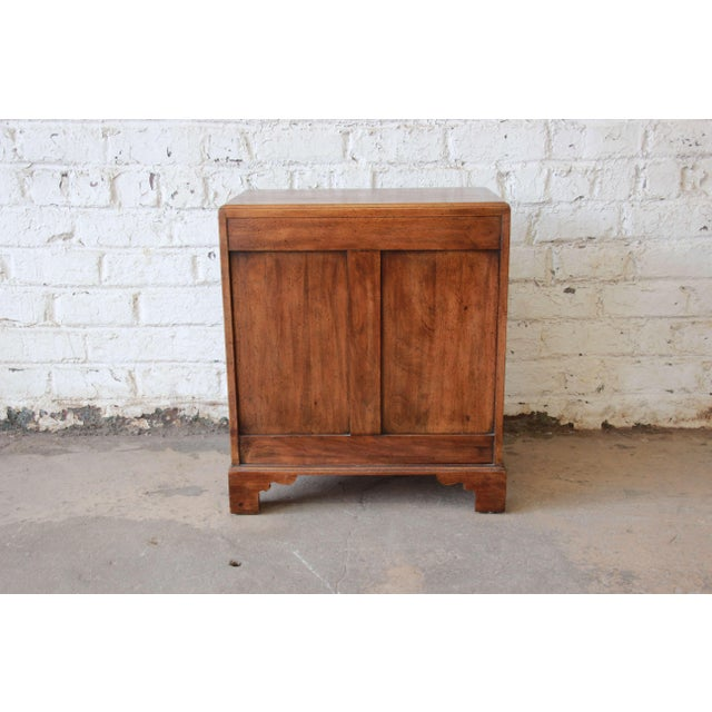 Brown Vintage Walnut Chest by Davis Cabinet Co. For Sale - Image 8 of 9