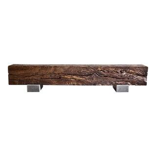 Ebonized Hardwood Beam Bench