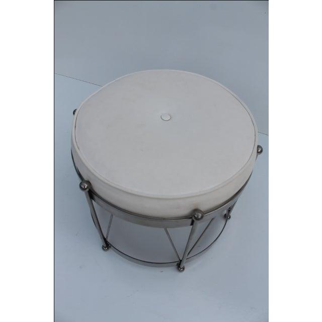 Mid-Century Modern George Koch Mid-Century Vinyl & Chrome Drum Stool For Sale - Image 3 of 11
