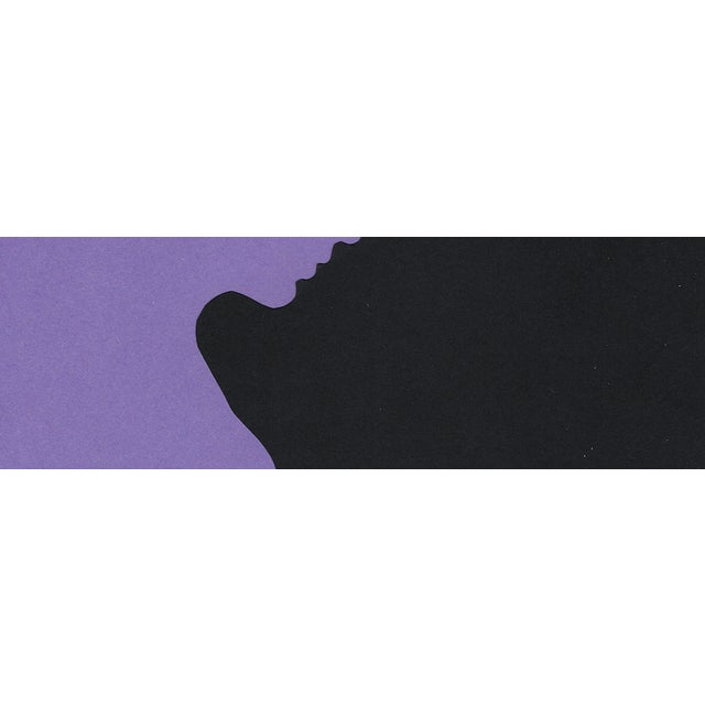 "Sarah Myers ""Profile 3 - Purple"", Minimalist Collage by Sarah Myers For Sale - Image 4 of 8"