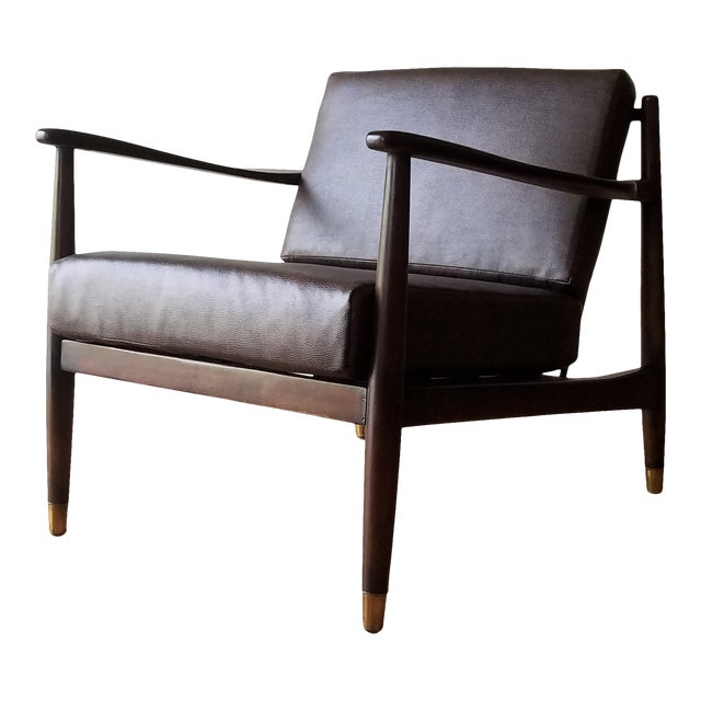 1960s Newly Upholstered Folke Ohlsson Lounge Chair For Sale