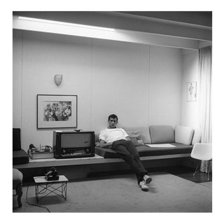 Anthony Perkins at home in Los Angeles 1959