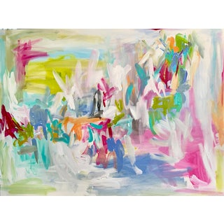 Large Abstract Painting by Ebony Boyd For Sale